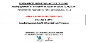 inscriptions alae alsh 20162017